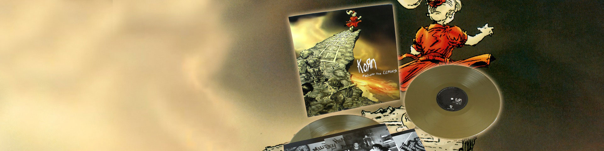The Korn discography -on vinyl!