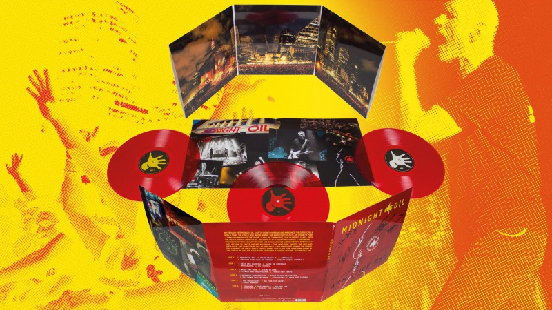 WIN A COPY OF MIDNIGHT OIL ARMISTICE DAY: LIVE AT THE DOMAIN, SYDNEY 3LP SIGNED BY ALL THE BAND MEMBERS