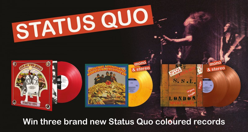 WIN THREE BRAND NEW STATUS QUO RECORDS!