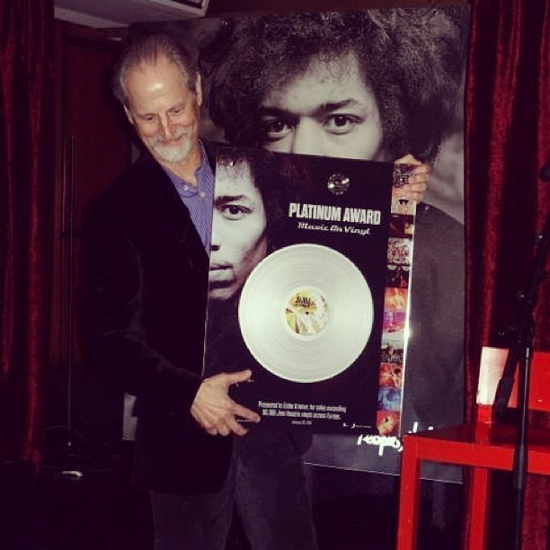 Platinum Sales for Jimi Hendrix Catalogue on Vinyl